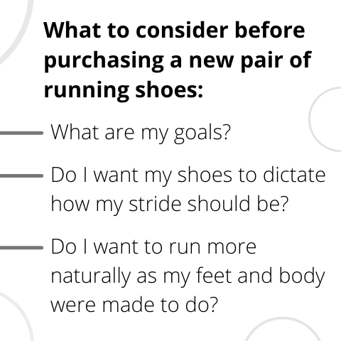 What to consider when purchasing running shoes