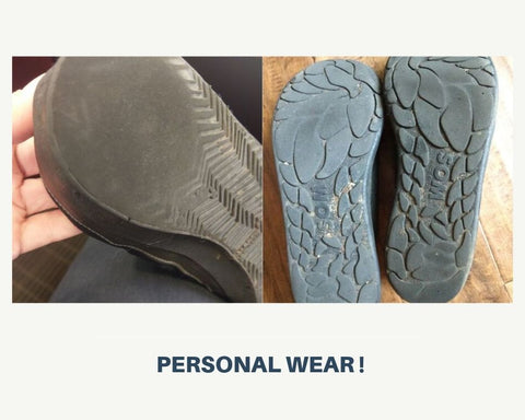 The wear of soles varies from one person to an other one.