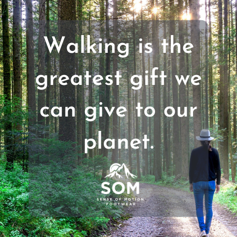 Walking lowers our carbon footprint and is great for our planet