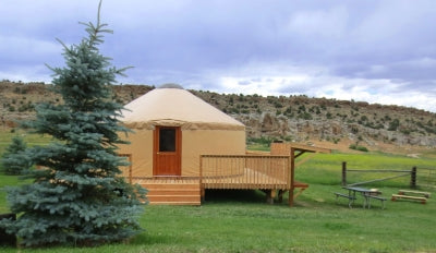 Colorao Yurt with a deck