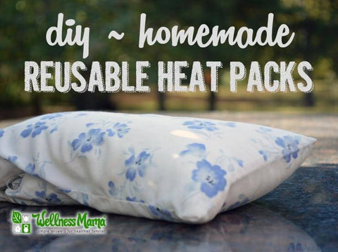 DIY rice packs for heat or cooling.
