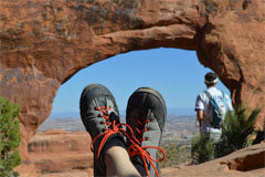 SOM Footwear at Arches National Park, Utah.