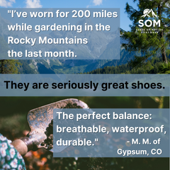 Great footwear, made in US that allows your toes to breathe.