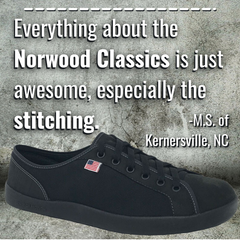 SOM Footwear's Norwood Classic have amazing stitching and are excellent minimalist shoes for the office testimonial