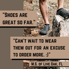 SOM Footwear's minimalist shoes are lightweight, breathable, with wide toe-box to allow your feet to move testimonial