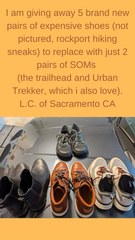 SOM Footwear's Trailhead and Urban Trekker shoes will replace your other shoes testimonial