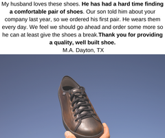SOM Footwear's shoes are comfortable and classy looking testimonial