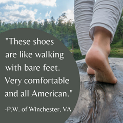 SOM Footwear's comfortable minimalist shoes are like walking with bare feet and are all American testimonial