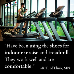 SOM Footwear's minimalist shoes are comfortable and great for exercising on the treadmill testimonial