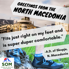 SOM Footwear ships shoes all over the world, and no matter how far apart we are, we can all share our love for lightweight and stylish minimalist shoes.