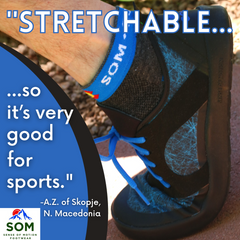 An open toebox and sof-tongue lacing structure make the Nutrail and Nutrail Cross Sport by SOM Footwear our most flexible shoes yet. Perfect for outdoor activity and sports.