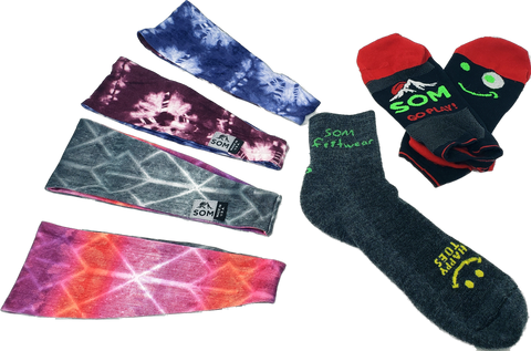 holiday promotion, Colorado made socks, handmade headbands