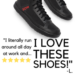 SOM HiLite Black mid top sneakers are perfect for grocery shopping, park walking, sports playing, and everything in between