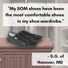 Complete your wardrobe with a pair of minimalist sneakers from SOM Footwear.