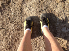 Hiking near Grand Junction, Colorado in SOM Footwear.