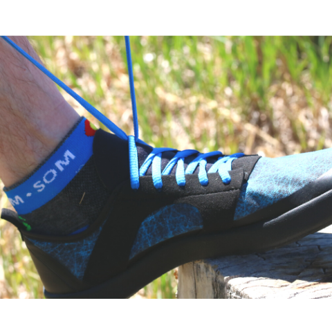Nutrail's lacing system provides flexibility of motion with a lightweight, minimalist design that feels like your barefoot