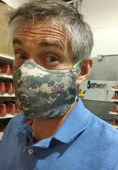 Olie, SOM's CEO is wearing is mask proudly!