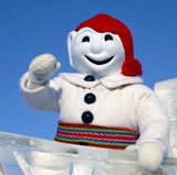 Bonhomme, the mascot of the Carnaval de Quebec.