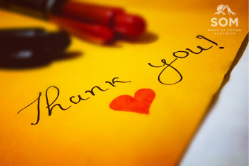 thank you note Review blog