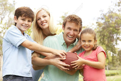 Be active this Thanksgiving by challenging your family to a game of American football.