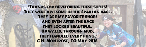spartan race, up walls, through mud, they are my favorite shoes