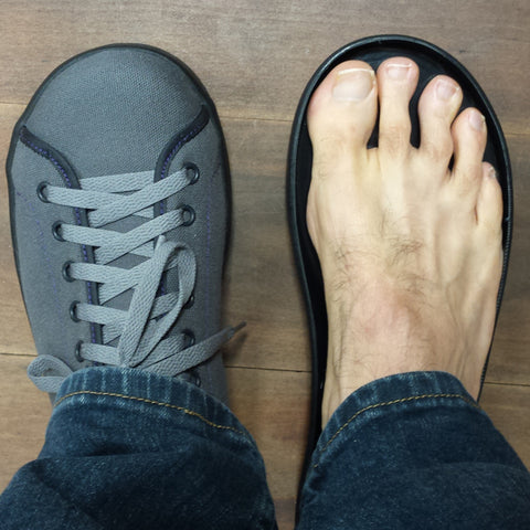 Happy feet in a wide comfortable toebox