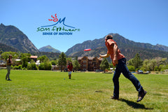 Frisbee in the park in Ouray, Colorado.