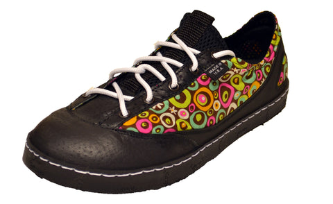 Funky flowers custom casual shoe made in the USA.