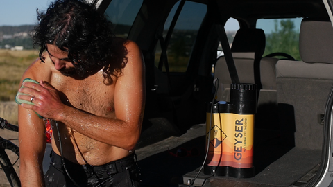 Geyser Systems, a portable shower for your adventures.