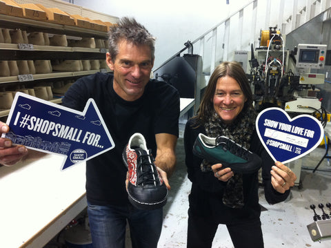 SOM Footwear owners Olie and Nathalie encourage you to shop small and buy american.