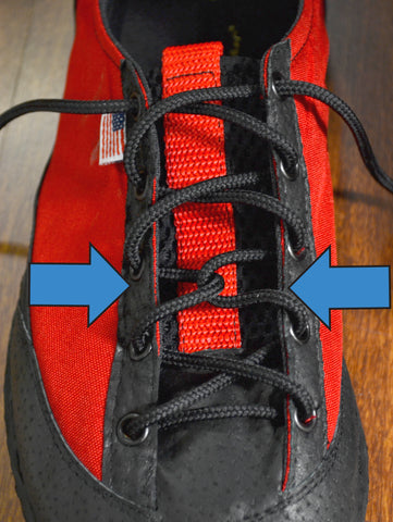 Our special way of tying shoes for extra precision.