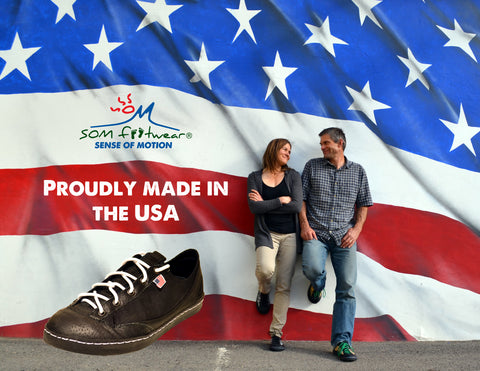 All of our sneakers are made in the USA.