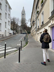 SOM shoes traveling near Sacré Coeur in Paris