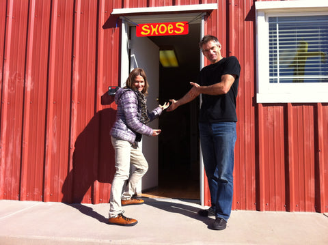 SOM Footwear owners Nathalie and Olie welcome you to the factory in Montrose, Colorado, USA.