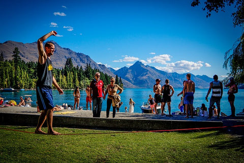 Slacklining can improve your balance.
