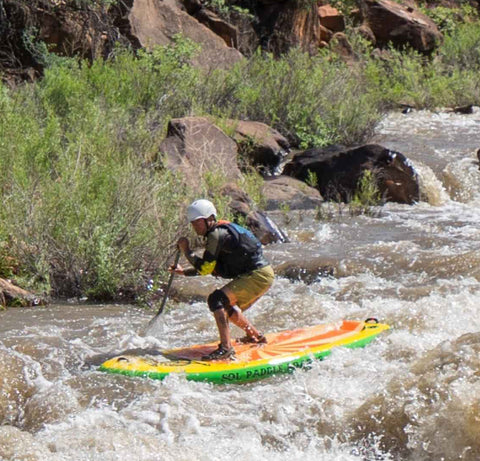 SOL Paddle Boards in white water