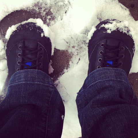 The American made SP-L3 is winterized and is a great sneaker for the snow.
