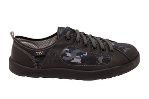 Camo Navy Roomy Toebox Shoes