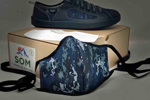 camo navy reusable face-mask