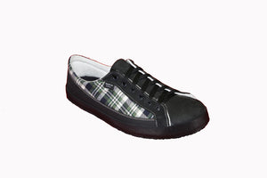 SOM Footwear barefoot shoe flannel with bamboo liner angled view