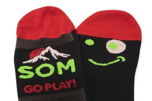 Go Play! SOM Socks in Coolmax fabric, top and under feet view