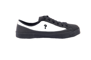 SOM barefoot inspired minimalist shoe with question mark on blank upper
