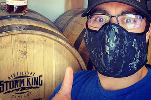 Storm King owner proudly wearing SOM's face-mask made in Montrose, CO USA