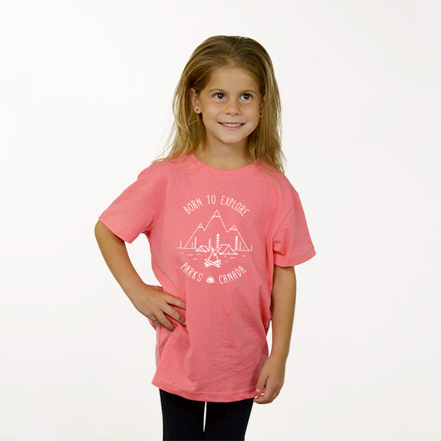 Girls Born to Explore T-shirt- English