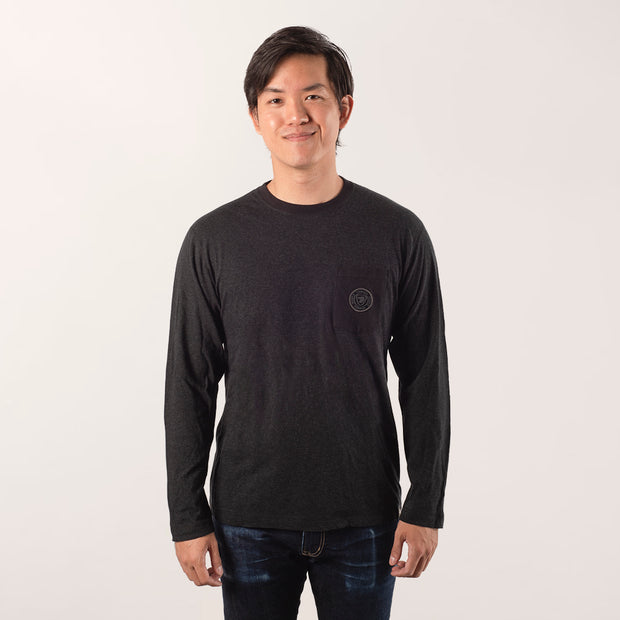 Men's Long Sleeve T-Shirt with crest