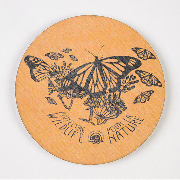 Monarch Wooden Magnet