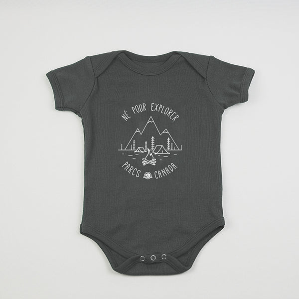 Born to Explore Baby Onesie- French