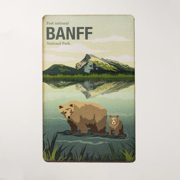 Banff National Park Wooden Magnet