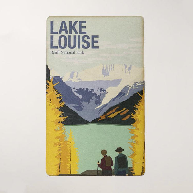 Lake Louise National Park Wooden Magnet