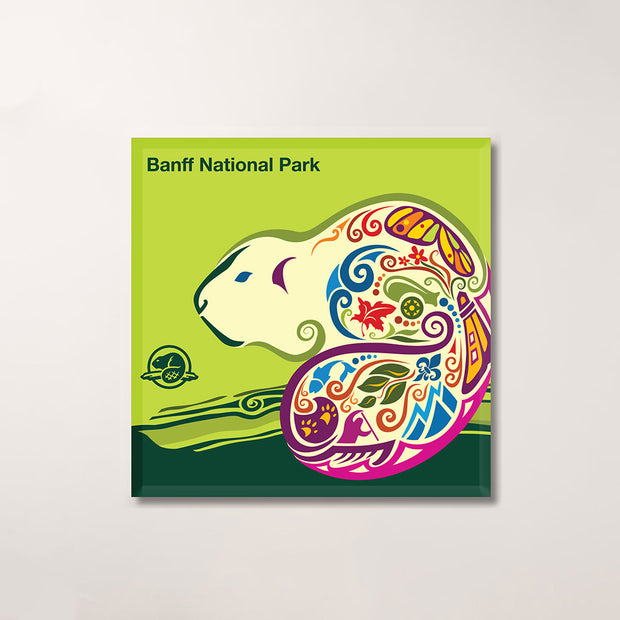 Banff National Park Celebration Magnet